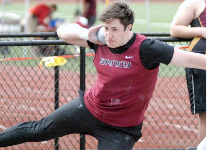 SANDY POST: MATT RAWLINGS - Sandys Dayne Gordien has the top mark in the state, regardless of classification, in the shot put and discus this spring.