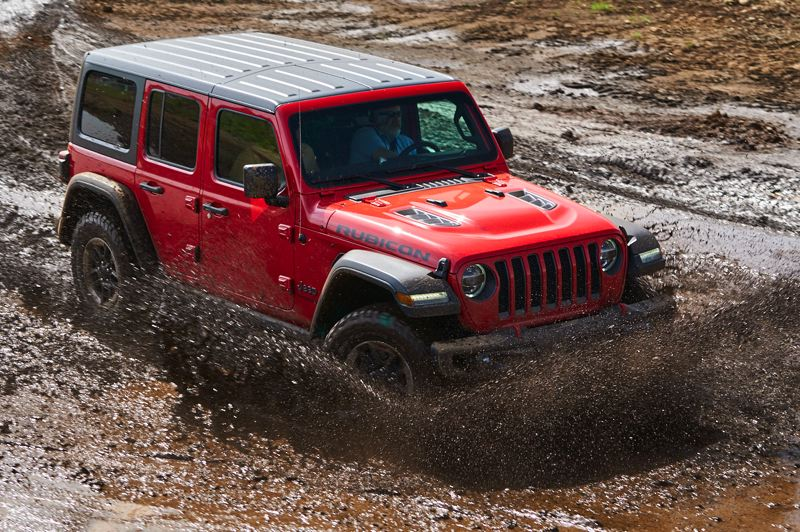 RYAN DOUTHIT/NWAPA - The 2018 Jeep Wrangler Rubicon was named the Northwest Activity Vehicle of the Year at Mudest. It also won the Extreme Performance and the Compact and Midsize SUV categories.