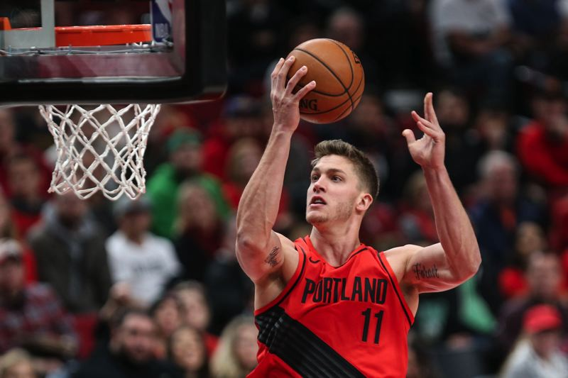 TRIBUNE PHOTO: DAVID BLAIR - Is Meyers Leonard's best NBA season behind him, or could the No. 11 pick in the 2012 produce more in a different environment?