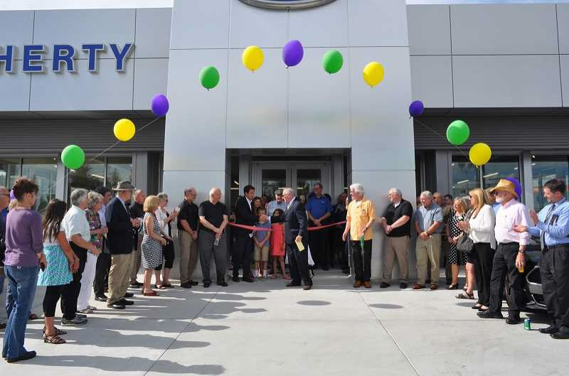 FILE PHOTO - Doherty Ford, pictured here during a 2016 ribbon-cutting ceremony, is participating in a peanut butter drive held throughout the Pacific Northwest this month. Donations are being accepted now through Monday, May 14.