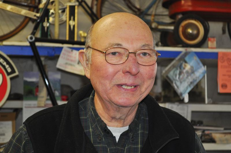 FILE PHOTO - Jim Schlegel was interviewed by the News-Times at age 70, on the occasion of the 90th anniversary of Schlegels Bicycle Center. He died last month of pneumonia.