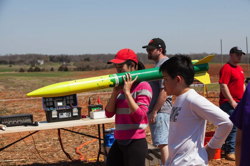 COURTESY: WANDA NG - Members of Portland Rocketry will be attending Team America Rocketry Challenge, a larger competition, also in Virginia.