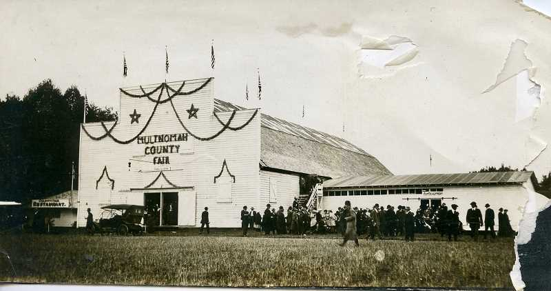 CONTRIBUTED PHOTO: GRESHAM HISTORICAL SOCIETY - A photo of the main building at the Multnomah County Fair taken between 1910-1920 when the festivities were still held in Gresham.