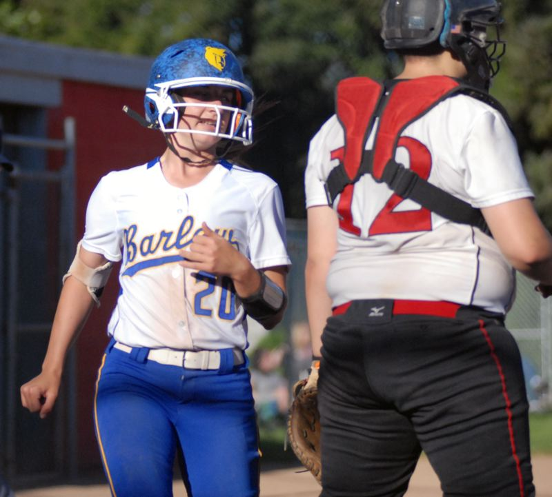 GRESHAM OUTLOOK: MATT RAWLINGS - Alexa Bailey scores the second run of the game for Barlow in the Bruins 4-3 victory over David Douglas.
