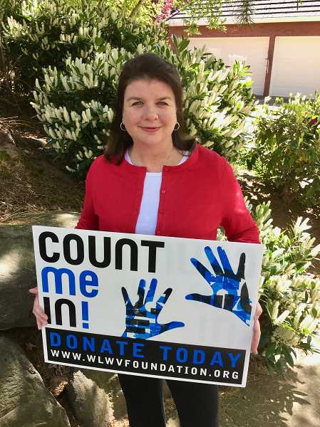 SUBMITTED PHOTO - Jules Walters encourages people to donate to the Count Me In Campaign to help decrease WL-WV class sizes and add additional programs.