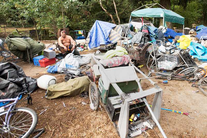 PMG FILE PHOTO - Homeless camps at two locations in Newberg were cleaned up by the Oregon Department of Transportation last week.