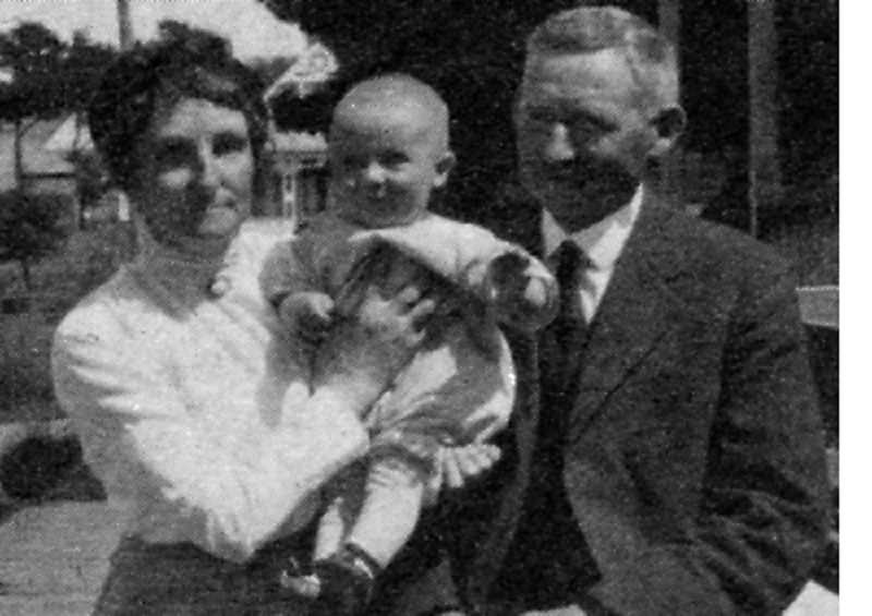 BOWMAN MUSEUM - William and Emma Staats are photographed with their young child.