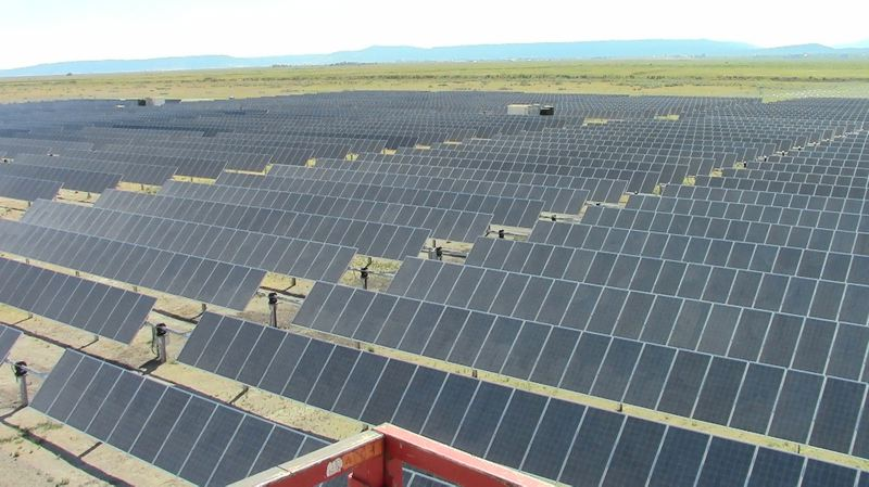 COURTESY PACIFIC POWER  - A commercial-scale solar array in Lakeview, Oregon, built for Pacific Power. Backers of a proposed gross receipts tax on large companies hope to make solar available to low-income Portlanders.