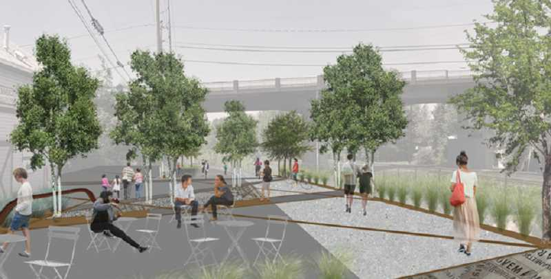 COURTESY CITY OF TIGARD - An artist's rendering shows what the future Outdoor Museum will look like along the Tigard Street Heritage Trail.