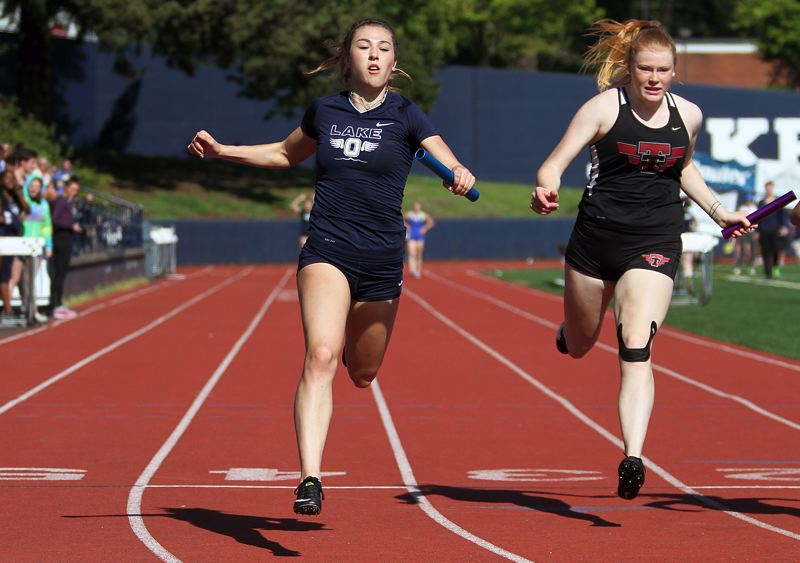 REVIEW PHOTO: MILES VANCE - Lake Oswego junior Maddie DeBorde is ready to make an impact at district as the Three Rivers League's top-ranked 100-meter runner and long jumper.