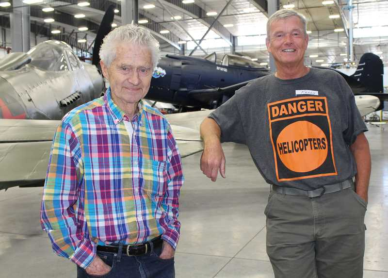 HOLLY M. GILL - Jack Erickson, the owner of Erickson Aero Tanker and Erickson Aircraft Collection, and helicopter pilot Kenny Chapman, who worked for Erickson when he owned Erickson Air-Crane,  reminisce.