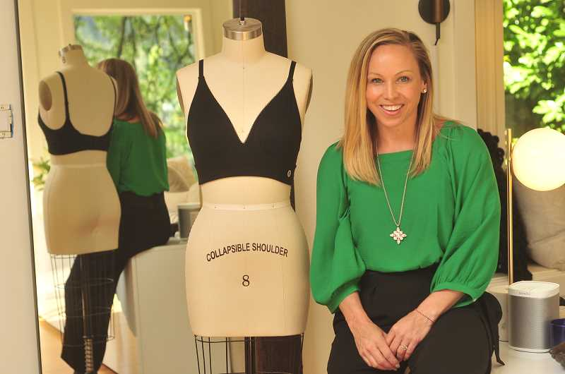 REVIEW PHOTO: VERN UYETAKE  - Katie Deming has designed bras that are more comfortable and supportive for those who have undergone breast cancer surgery and radiation. The line is call Makemerry.