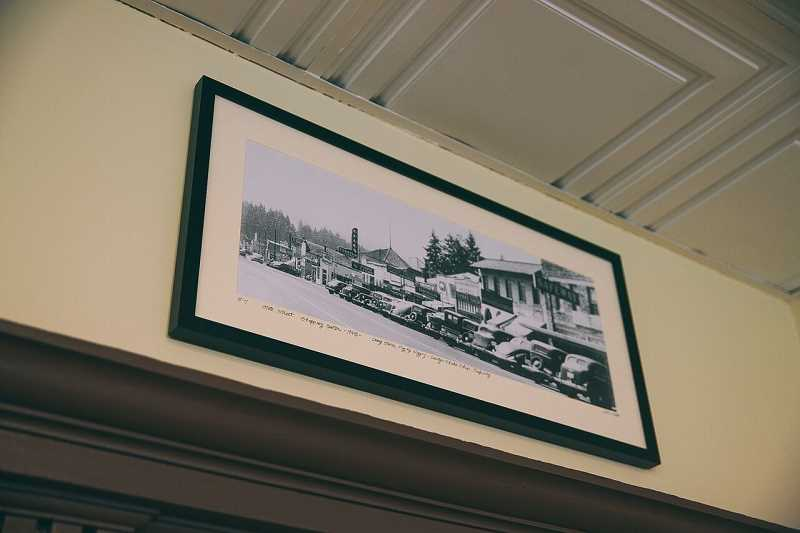 COURTESY PHOTO: BRIAN BROSE - A photo of downtown Oswegos State Street circa 1922 hangs high on a beam inside the Oswego Creamery.