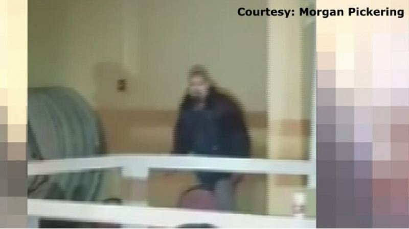 COURTESY MORGAN PICKERING - A screen grab of a video taken moments before John Elifritz was shot to death by police inside the Portland CityTeam Ministries Shelter on April 7.