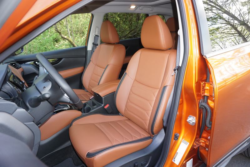 PORTLAND TRIBUNE: JEFF ZURSCHMEIDE - The Rogue cabin is comfortable, especially if you upgrade the trim level. Most trims offer cool cloth seats, while the top luxury SL trim offers very nice leather upholstery.