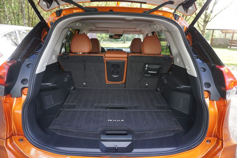 PORTLAND TRIBUNE: JEFF ZURSCHMEIDE - Did someone say cargo space? the 2018 Nissan Rogue has plenty of it, especailly with the back seats folded down.