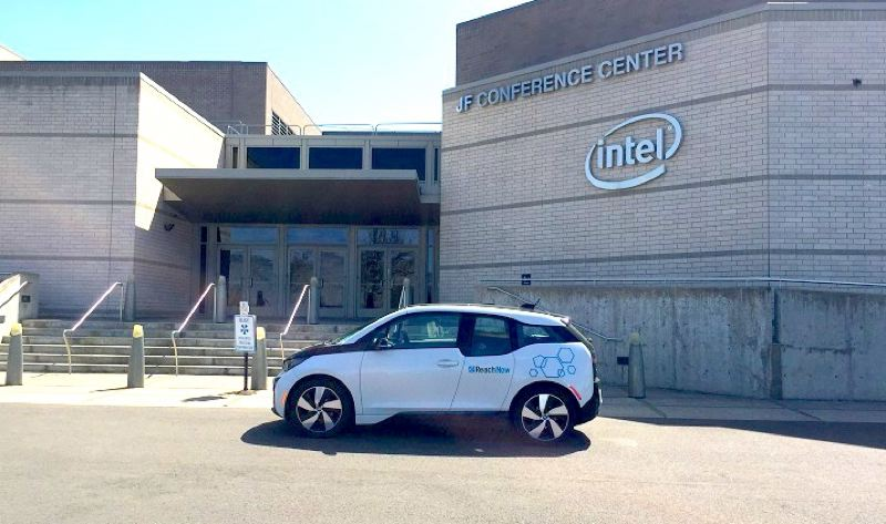 COURTESY REACHNOW - A ReachNow vehicle on an Intel campus in Hillsboro.