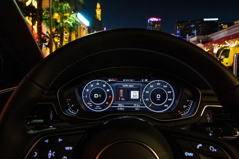 PHOTO COURTESY OF AUDI - How Audi displays its data in Portland and other cities.