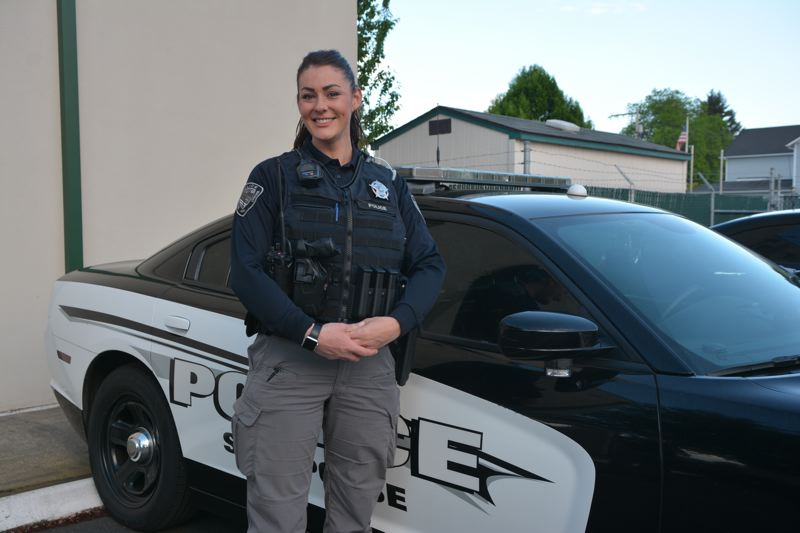 SPOTLIGHT PHOTO: COURTNEY VAUGHN - Hailey Holm is Scappoose Police Department's newest officer.