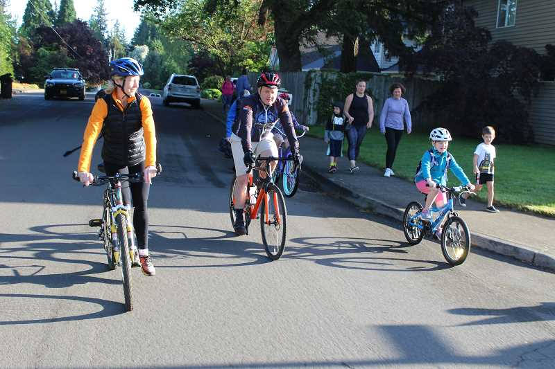 COURTESY OF CITY OF TIGARD: RUDY OWENS - Tigard school children participated in National Bike to School Day at Durham Elementary School Wednesday, sponsored by Tigards Safe Routes to School program.