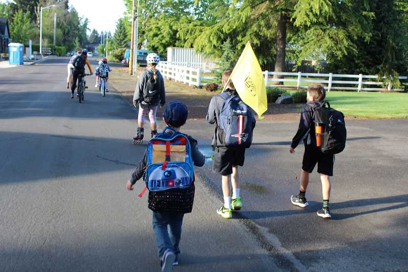 COURTESY OF CITY OF TIGARD: RUDY OWENS - Weather held out for National Bike to School Day observed Wednesday at all eight Tigard elementary and middle schools.