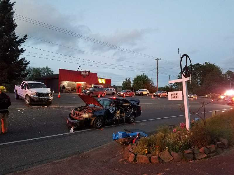 OREGON STATE POLICE - A blue 2002 Toyota Camry driven by Natasha Melyn Carillo, 26, of Vancouver, Washington, was struck by a 2000 Ford F350 on Thursday, May 10, at approximately 7:40 p.m. Carillo was pronounced deceased at the scene.