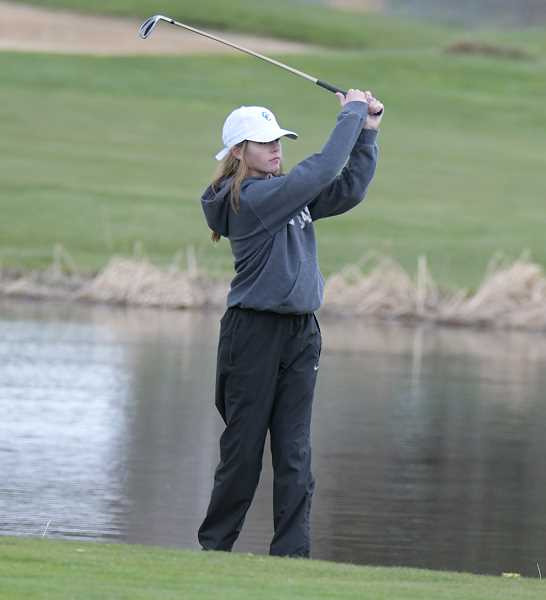 CENTRAL OREGONIAN FILE PHOTO - Sammi Todd plays a shot at a tournament earlier this year. Todd shot rounds of 102-117- 219 at this year's regional tournament.