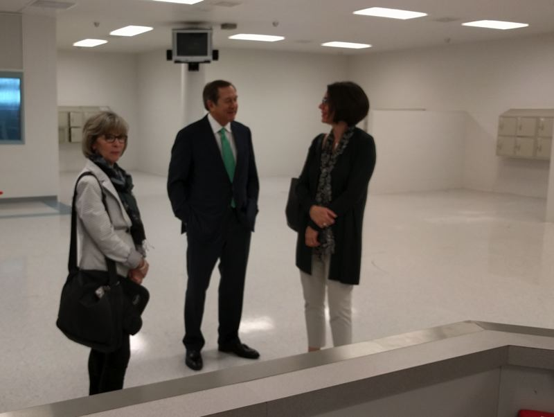 PORTLAND TRIBUNE: JIM REDDEN - Developer Jordan Schnitzer talks about using the never-opened Wapato Jail during a Friday morning tour of the facility.