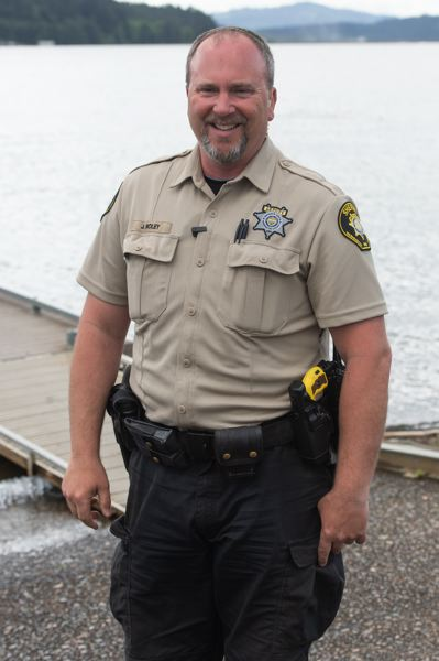 STAFF PHOTO: CHRISTOPHER OERTELL - Washington County Sheriff's Deputy Jerry Roley is a marine deputy who has been recognized multiple times by the Oregon State Marine Board. He helped lead this month's training course for new marine patrol officers.