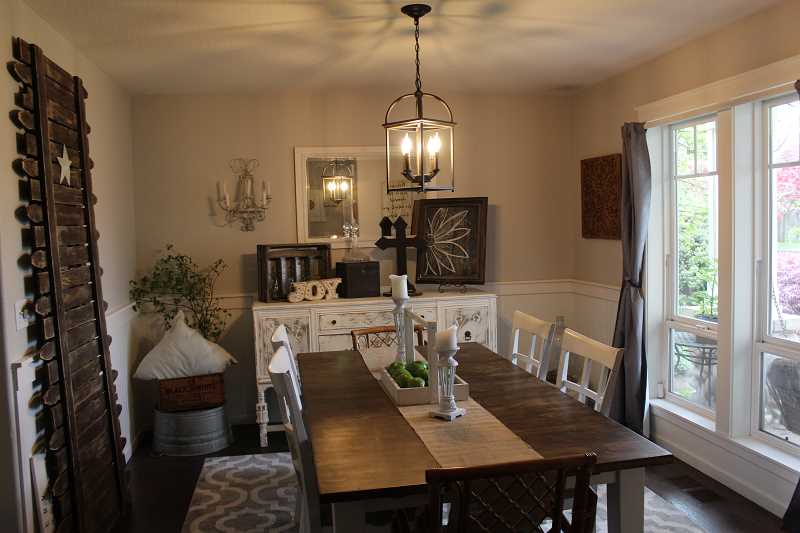 HERALD PHOTO: KRISTEN WOHLERS - Heather French designed her dining room, pictured here.