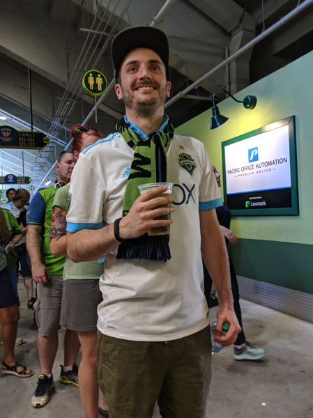 PAMPLIN MEDIA GROUP: JOSEPH GALLIVAN - Sounders fan Peter Rice said Seattle's problem was 'Half the team's injured. We have a mountain to climb ...'