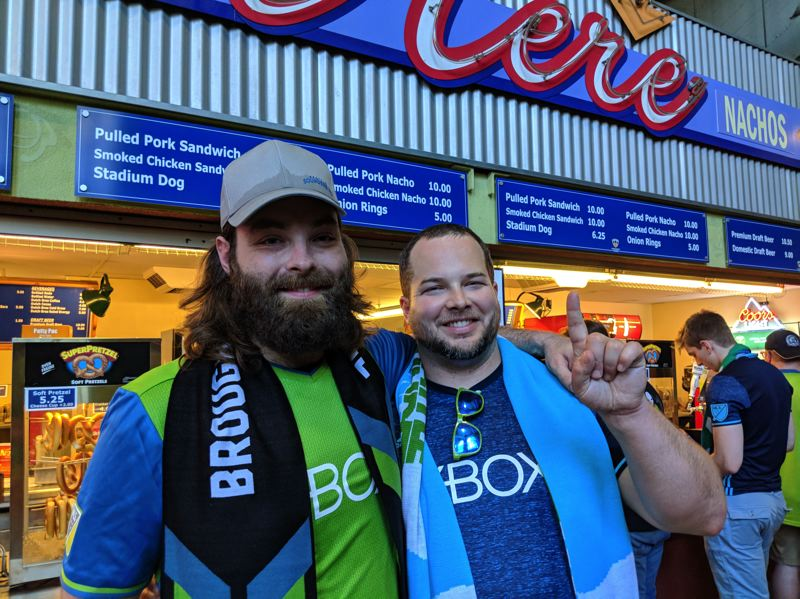 PAMPLIN MEDIA GROUP: JOSEPH GALLIVAN - Zack Neuhaus (right) and his buddy Matthew Wood are confident Seattle's slow start can be overcome.