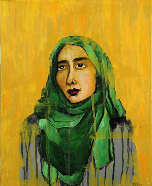 PHOTO COURTESY: MELISSA BURT - Mattison Perry, a sophomore at Oregon City High School, won the portraiture award for 'Hebh Jamal.'