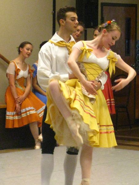 SUBMITTED PHOTO - Daniel Salinas and Kenzie Brousson dance to music from 'Coppelia,' during last year's OBT 2 performance at the Milwaukie Center.