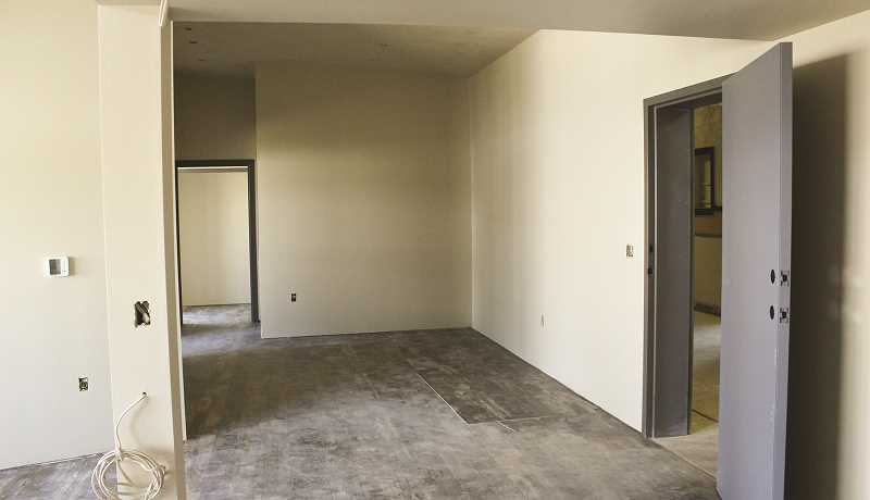 JASON CHANEY/CENTRAL OREGONIAN  -  Some of the two bedroom units have drywall up, interior paint completed and flooring finished.