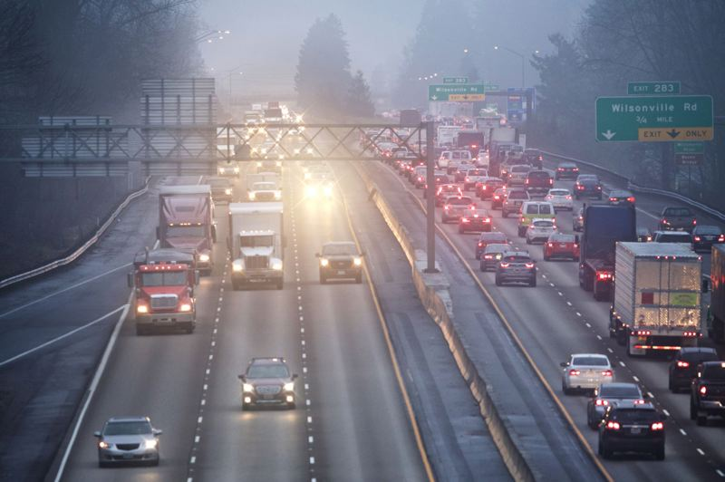 JAIME VALDEZ/PAMPLIN FILE PHOTO - Traffic on Interstate 5 over the Boone Bridge