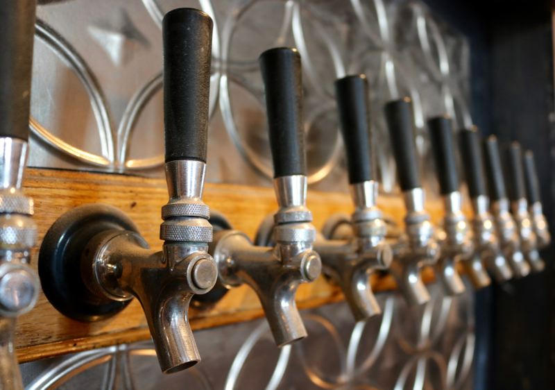 OUTLOOK PHOTO: ZANE SPARLING - Craft beer is on tap at the The Low Road in downtown Gresham.