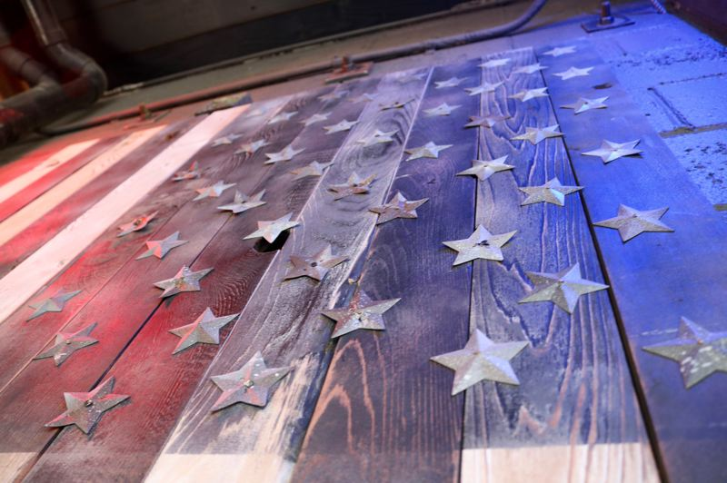OUTLOOK PHOTO: ZANE SPARLING - The Low Road owners say this wooden American flag will be a prime spot for selfies.