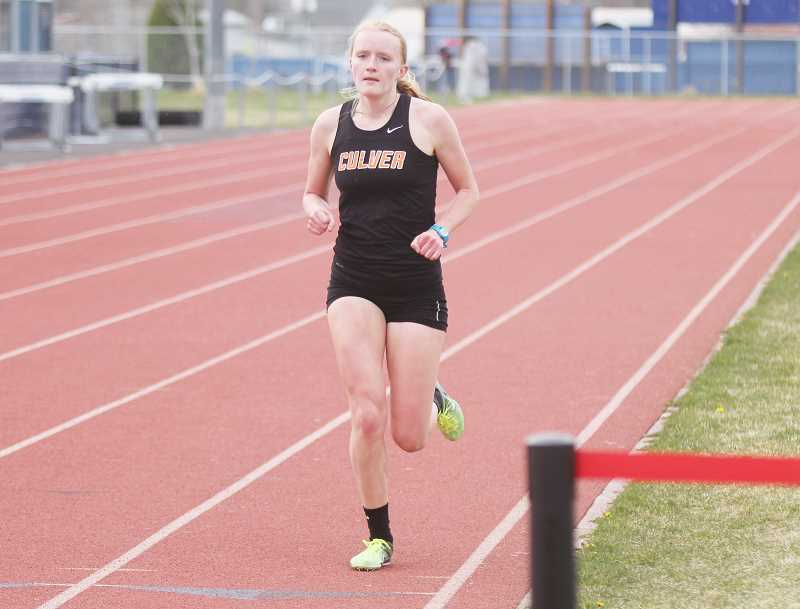 STEELE HAUGEN - Emma Knepp won the 1,500 to become a district champ.