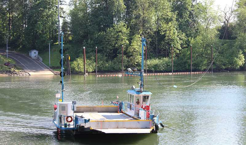 SPOKESMAN PHOTO: SAM STITES - The Canby Ferry operates at a loss of about $300,000 to $400,000 a year, prompting Clackamas County, its owners, to reconsider its future with the help of public feedback.