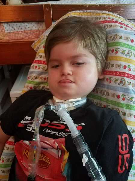 CONTRIBUTED PHOTO: STEPHANIE KYLE - Tristan Kyle, 5, has Pompe Disease, in which the body cannot break down glycogen. His family is fundraising to him to attend Duke Childrens Hospital to meet with doctors who specialize in the condition.