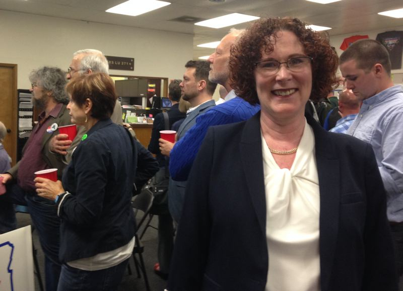 PAMPLIN MEDIA GROUP: CLAIRE WITHYCOMBE - Former Lane County state Rep. Val Hoyle is on her way to becoming the next labor commissioner, defeating former Tualatin Mayor Lou Ogden.