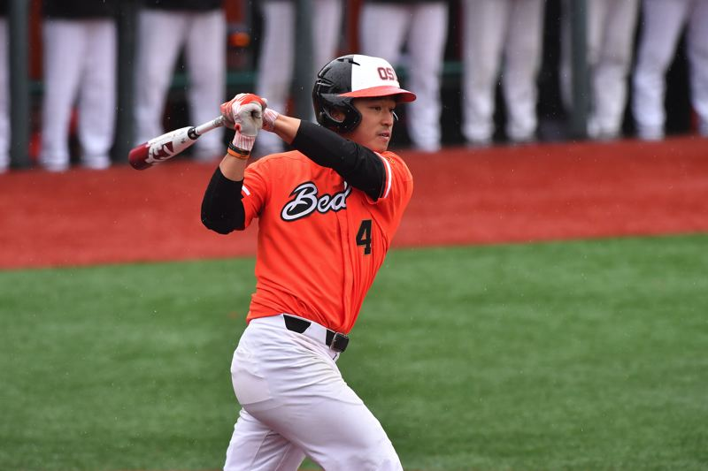 COURTESY: DAVE NISHITANI - Skeptics who told him he'd be a good fourth outfielder for Oregon State lit a fire in Steven Kwan, now one of the key players for the No. 2-ranked Beavers.