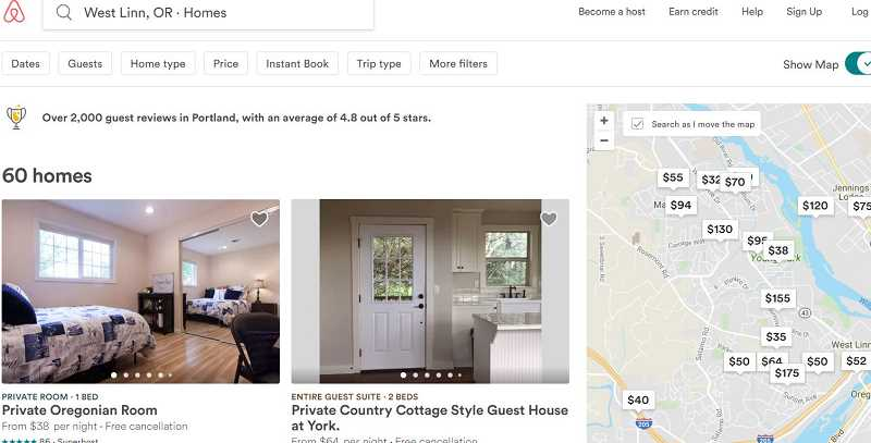 PHOTO BY AIRBNB.COM - Short term rentals on sites like Airbnb aren't covered by the City's lodging tax, but officials and other community advocates are exploring how they can be addressed moving forward.