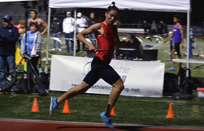TIMES PHOTO: MATT SINGLEDECKER - Westview senior Keizo Morgan won the 800 meters and helped the Wildcat 4x400 relay take first overall at the Metro district meet.