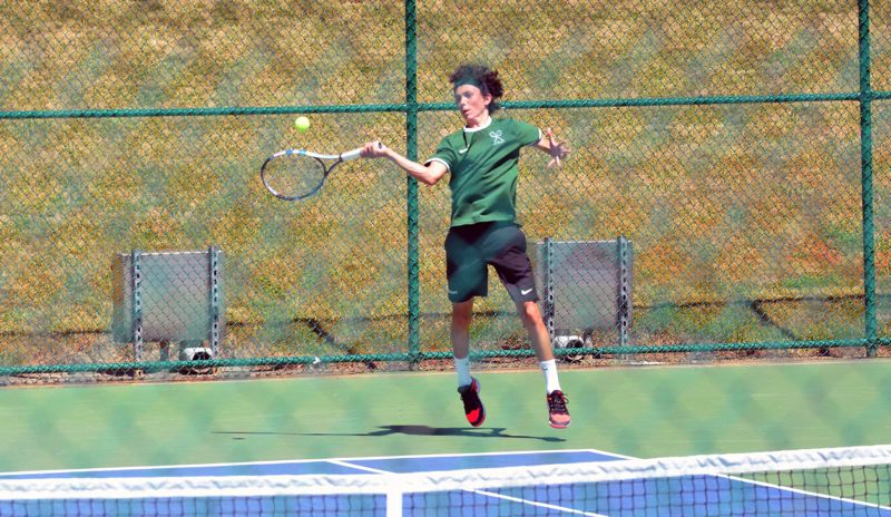 TIMES PHOTO: MATT SINGLEDECKER - Jesuit sophomore Peter Murphy won the Metro League singles championship on Saturday.