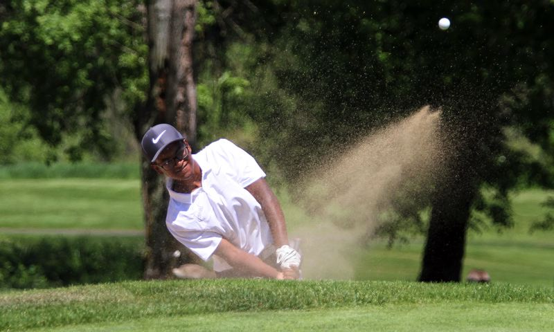 TIMES PHOTO: MILES VANCE - Jesuit senior Samir Dutta and the Crusader boys golf team won their second straight Class 6A state title on Tuesday.