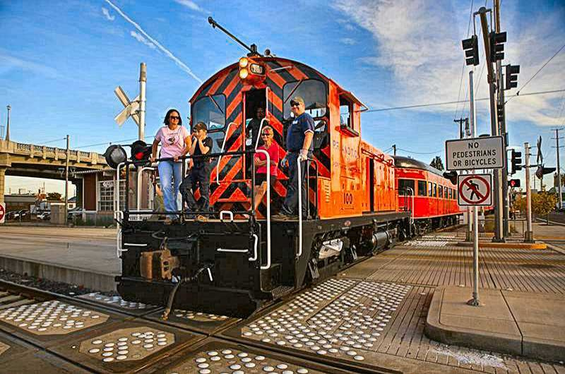 PORTLAND TRIBUNE FILE PHOTO - The Oregon Pacific Railroad is offering daytime rides to Oaks Park and back on May 19.