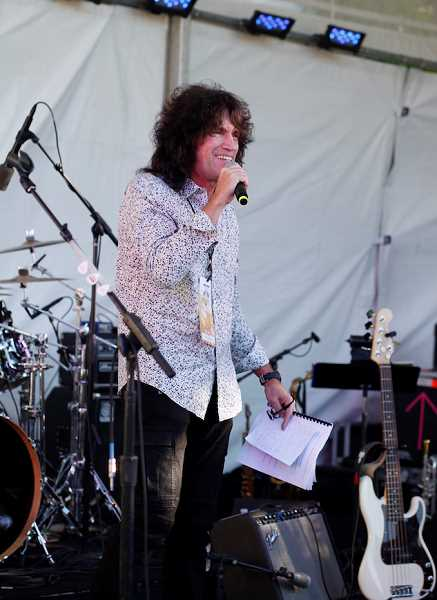 COURTESY OF PACIFIC UNIVERSITY - Tommy Thayer emcees at his popular Legends celebrity fundraising events that he put on for 10 years to raise money for Pacific University sports.