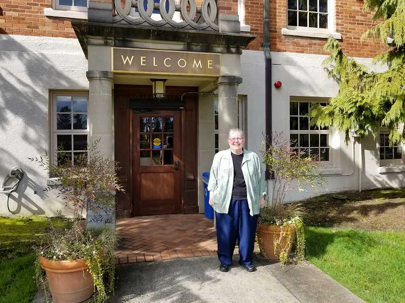 REVIEW PHOTO: ANTHONY MACUK - Sister Carole Strawn attended Marylhurst in the 1960s, then returned and worked at the university for 25 years. She now works at Marys Woods.